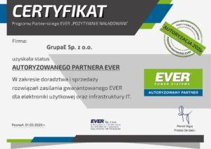 GrupaE Certyfikat